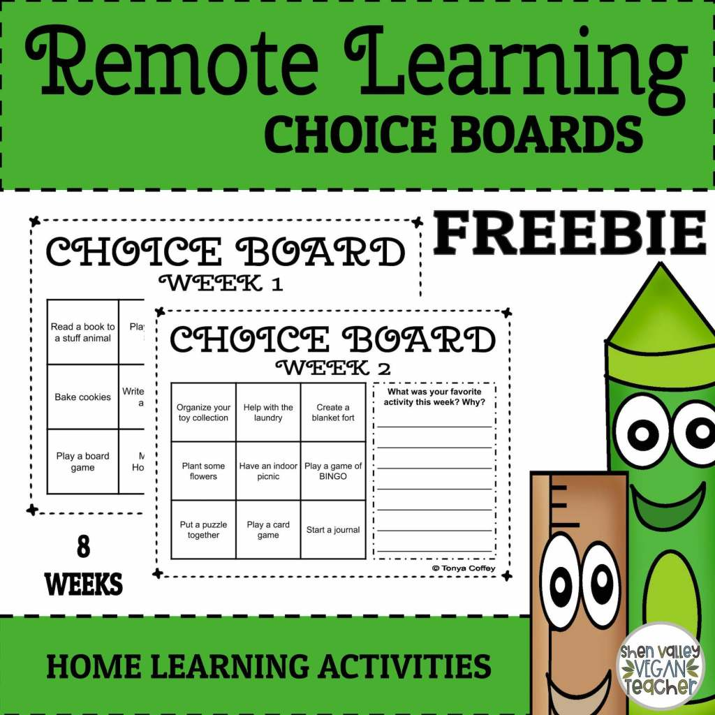 Remote Learning Choice Board