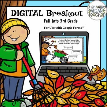 Fall Digital Escape Room (Google Form Digital Breakout) 3rd Grade