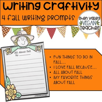 Fall Writing Prompts with Toppers (Printable)